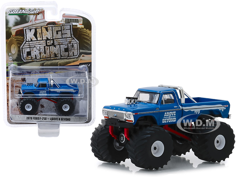 1978 Ford F-250 Monster Truck Above N Beyond Blue Kings of Crunch Series 4 1/64 Diecast Model Car Greenlight 49040 C
