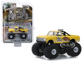 1972 Chevrolet C20 Monster Truck Big Bear Yellow Kings of Crunch Series 4 1/64 Diecast Model Car Greenlight 49040 F