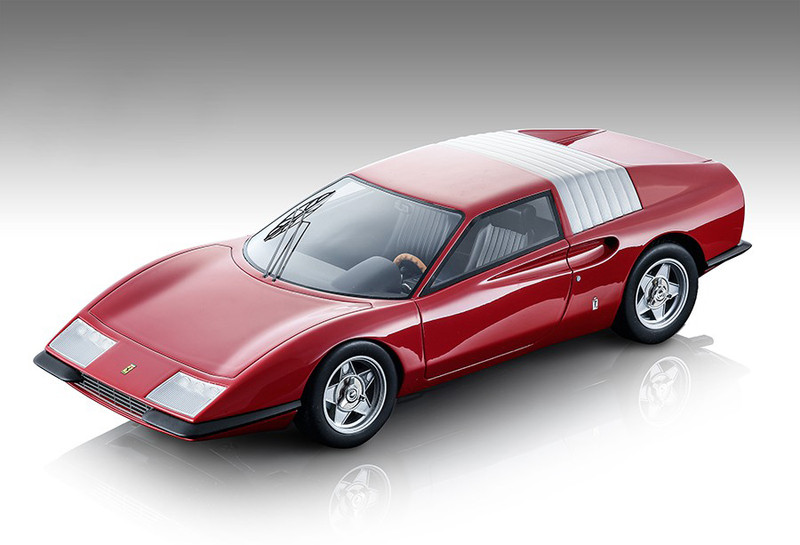 1968 Ferrari P6 Pininfarina Gloss Red Mythos Series Limited Edition 120 pieces Worldwide 1/18 Model Car Tecnomodel TM18-93 C