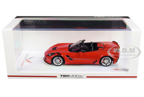 2017 Chevrolet Corvette Grand Sport Convertible Torch Red 1/43 Model Car True Scale Miniatures 430228