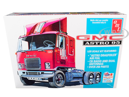 Skill 3 Model Kit GMC Astro 95 Truck Tractor 1/25 Scale Model AMT AMT1140