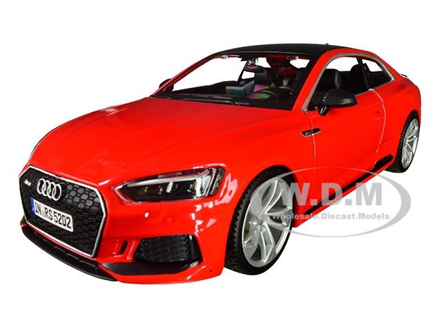 Audi RS 5 Coupe Red Black Top 1/24 Diecast Model Car Bburago 21090