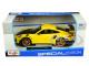 Porsche 911 GT2 RS Yellow Carbon Hood 1/24 Diecast Model Car Maisto 31523