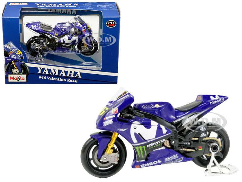 Yamaha YZR-M1 #46 Valentino Rossi Blue 1/18 Diecast Motorcycle Model Maisto 31594 VR