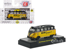 1959 Volkswagen Microbus Deluxe USA Model Mooneyes Liquid Gold Black Moon Equipment Co Limited Edition 3680 pieces Worldwide 1/64 Diecast Model M2 Machines 32500-S69-S1V