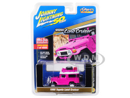 1980 Toyota Land Cruiser Hot Pink Accessories Johnny Lightning 50th Anniversary Limited Edition 4800 pieces Worldwide 1/64 Diecast Model Car Johnny Lightning JLCP7208