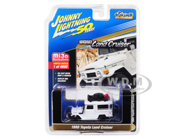 1980 Toyota Land Cruiser White Accessories Johnny Lightning 50th Anniversary Limited Edition 4800 pieces Worldwide 1/64 Diecast Model Car Johnny Lightning JLCP7209