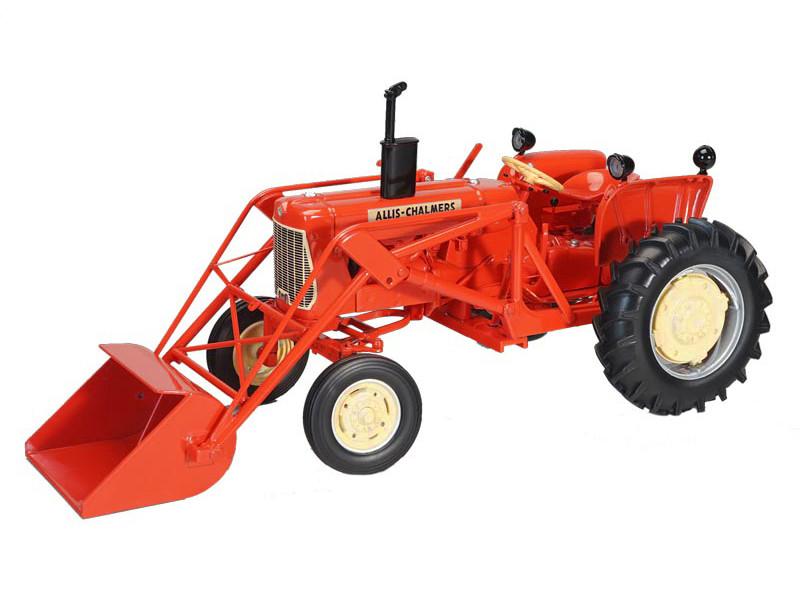 Allis Chalmers D15 Wide Front Tractor Loader Orange Classic Series 1/16 Diecast Model SpecCast SCT710