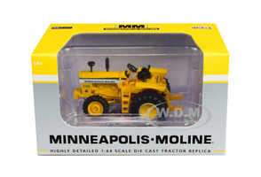 Minneapolis Moline G1000 Vista Tractor Power Assist Yellow 1/64 Diecast Model SpecCast SCT711