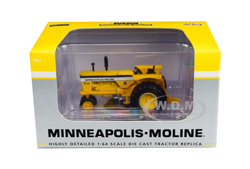 Minneapolis Moline G900 Narrow Front Tractor Yellow 1/64 Diecast Model SpecCast SCT712