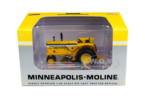 Minneapolis Moline G900 Narrow Front Tractor Yellow 1/64 Diecast Model SpecCast SCT712