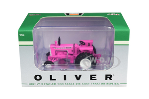 White Oliver 1755 Wide Front Tractor Pink 1/64 Diecast Model SpecCast SCT714