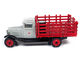 1930 Chevrolet Stake Truck Eight Oil Barrels Oil Derricks Diorama Texaco 12th in the USA Series 1/43 Diecast Model Autoworld CP7551