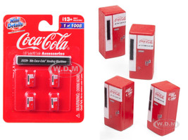 1960's Coca Cola Vending Machines 4 piece Accessory Set 1/87 HO Scale Models Classic Metal Works 20229