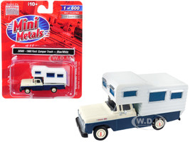 1960 Ford Camper Truck Blue White 1/87 HO Scale Model Car Classic Metal Works 30565
