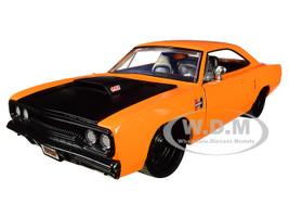 1970 Plymouth Road Runner Orange Black Hood Bigtime Muscle 1/24 Diecast Model Car Jada 31325