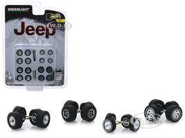 Jeep Wheel and Tire Multipack Set 24 pieces Wheel & Tire Packs Series 1 1/64 Greenlight 16010 C