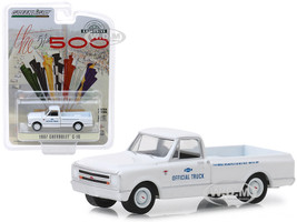 1967 Chevrolet C-10 Pickup Truck White 51th Annual Indianapolis 500 Mile Race Official Truck Hobby Exclusive 1/64 Diecast Model Car Greenlight 30029