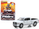 2018 Dodge Ram 2500 Big Horn Pickup Truck Bright White Silver Harvest Edition Hobby Exclusive 1/64 Diecast Model Car Greenlight 30048