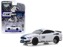 2016 Ford Mustang Shelby GT350 #15 Oxford White Blue Stripes Ford Performance Racing School GT350 Track Attack Hobby Exclusive 1/64 Diecast Model Car Greenlight 30052