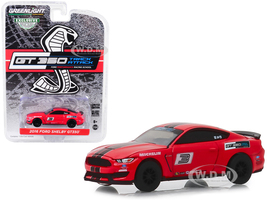 2016 Ford Mustang Shelby GT350 #3 Race Red Black Stripes Ford Performance Racing School GT350 Track Attack Hobby Exclusive 1/64 Diecast Model Car Greenlight 30053