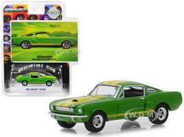 1966 Ford Mustang Shelby GT350 Green Yellow Stripes When You're Ready to Get Serious BFGoodrich Vintage Ad Cars Hobby Exclusive 1/64 Diecast Model Car Greenlight 30060