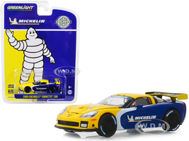 2009 Chevrolet Corvette C6R Michelin Tires Hobby Exclusive 1/64 Diecast Model Car Greenlight 30074