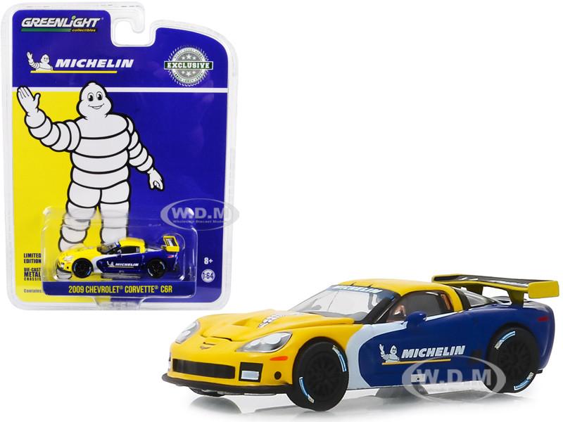 2009 Chevrolet Corvette C6R Michelin Tires Hobby Exclusive 1/64 Diecast Model Car Greenlight 30074