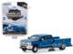 2018 Chevrolet Silverado 3500HD Dually Service Bed Truck Deep Ocean Blue Metallic Dually Drivers Series 1 1/64 Diecast Model Car Greenlight 46010 B