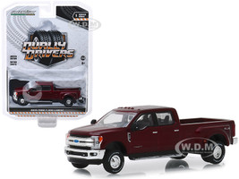 2019 Ford F-350 Lariat Pickup Truck Ruby Red Dually Drivers Series 1 1/64 Diecast Model Car Greenlight 46010 D