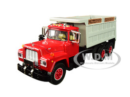 Mack R Tandem Axle Dump Truck Red Gray Body 1/64 Diecast Model DCP First Gear 60-0435