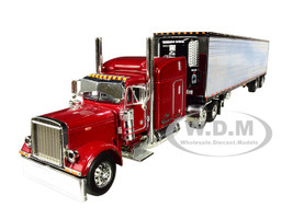 """Peterbilt 379 63"""" Mid-Roof Sleeper Cab 53' Utility Reefer Refrigerated Ribbed Sided Trailer Christensen Trucking 1/64 Diecast Model DCP First Gear 60-0467"""