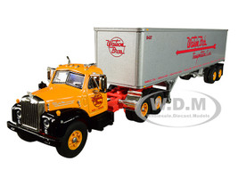Mack B-61 Day Cab 40' Vintage Trailer Watson Bros Transportation 29th in a Fallen Flag Series 1/64 Diecast Model DCP First Gear 60-0570