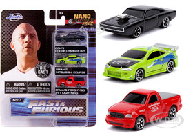 Fast & Furious 3 piece Set Nano Hollywood Rides Diecast Model Cars Jada 31123
