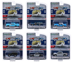 Hot Pursuit Series 32 Set of 6 Police Cars 1/64 Diecast Model Cars Greenlight 42890