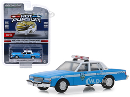 1990 Chevrolet Caprice New York City Police Dept NYPD Light Blue White Top Hot Pursuit Series 32 1/64 Diecast Model Car Greenlight 42890 C