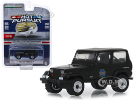 1994 Jeep Wrangler YJ San Francisco Police Department SFPD Black Hot Pursuit Series 32 1/64 Diecast Model Car Greenlight 42890 D