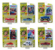 Garbage Pail Kids Series 1 6 piece Set 1/64 Diecast Model Cars Greenlight 54010