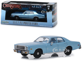 1977 Plymouth Fury Steel Blue Detective Rudolph Junkins' Christine 1983 Movie 1/43 Diecast Model Car Greenlight 86559