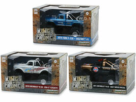 Kings of Crunch Series 1 Set of 3 Monster Trucks 1/43 Diecast Model Cars Greenlight 88010