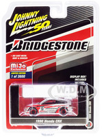 1990 Honda CRX #9 Bridgestone Johnny Lightning 50th Anniversary Limited Edition 3600 pieces Worldwide 1/64 Diecast Model Car Johnny Lightning JLCP7199