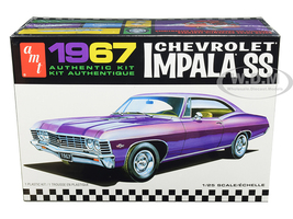 Skill 2 Model Kit 1967 Chevrolet Impala SS 1/25 Scale Model AMT AMT981 M