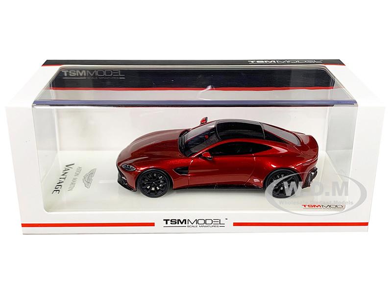 2018 Aston Martin Vantage Hyper Red Carbon Top 1 43 Model Car True Scale Miniatures 430311