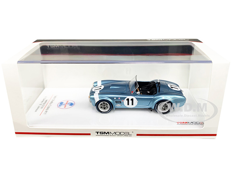 Shelby Cobra #11 Gurney Johnson Sebring 12H 1964 1/43 Model Car True Scale Miniatures 430348