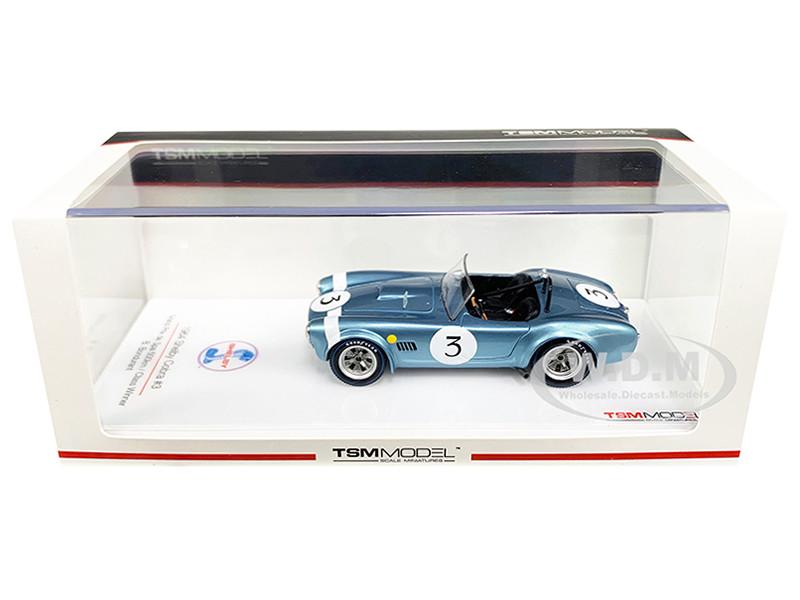 Shelby Cobra #3 Bob Bondurant Winner Grand Prix de Spa 500km 1964 1/43 Model Car True Scale Miniatures 430349