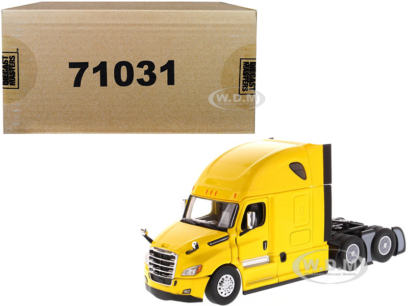 Freightliner New Cascadia Sleeper Cab Truck Tractor Yellow 1/50 Diecast Model Diecast Masters 71031