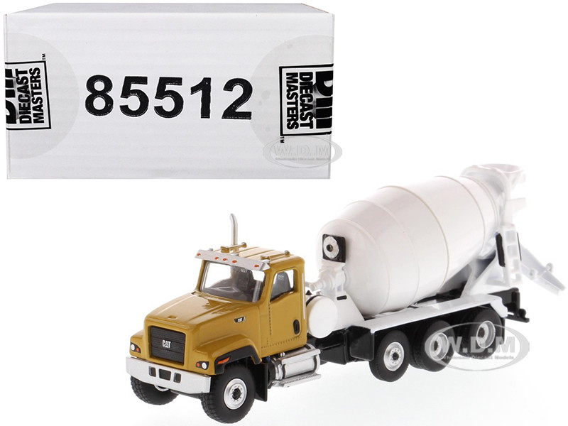 CAT Caterpillar CT681 Concrete Mixer Yellow White High Line Series 1/87 HO Scale Diecast Model Diecast Masters 85512