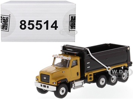 CAT Caterpillar CT681 Dump Truck Yellow Black High Line Series 1/87 HO Scale Diecast Model Diecast Masters 85514