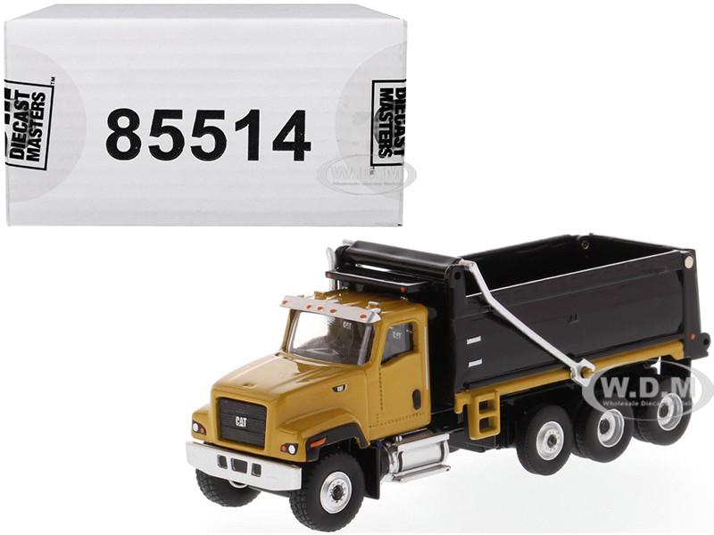 CAT Caterpillar CT681 Dump Truck Yellow Black High Line Series 1/87 HO Scale Diecast Model Diecast Masters 85514