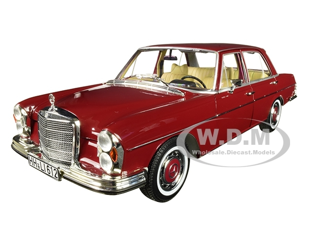 1968 Mercedes Benz 280 SE Dark Red 1/18 Diecast Model Car Norev 183431